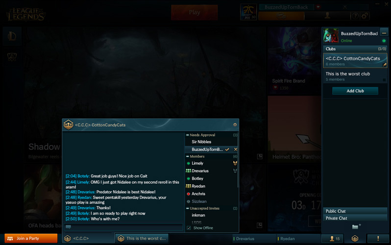 Chat Rooms In New Lol Client