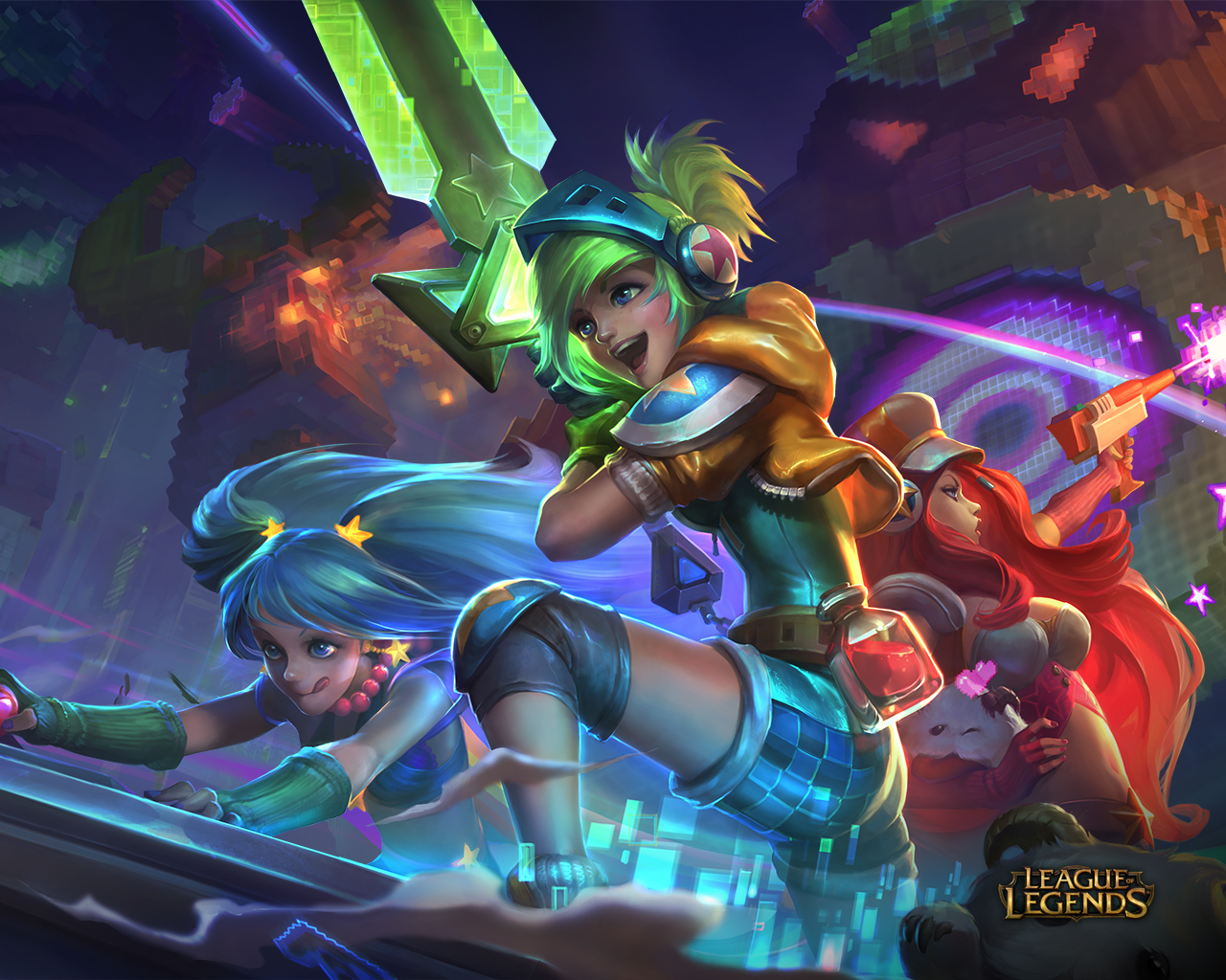 League of legends wallpaper pack - 1280x1024 1920x1080 1920x1200 3840x1080